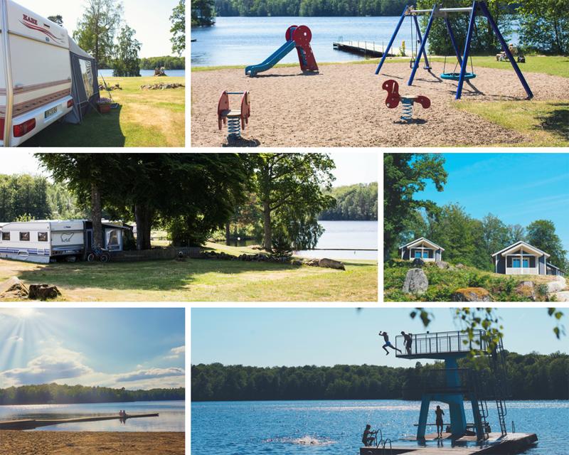 Camping vid strand, i natur, vid sjö i Olofström | Visit