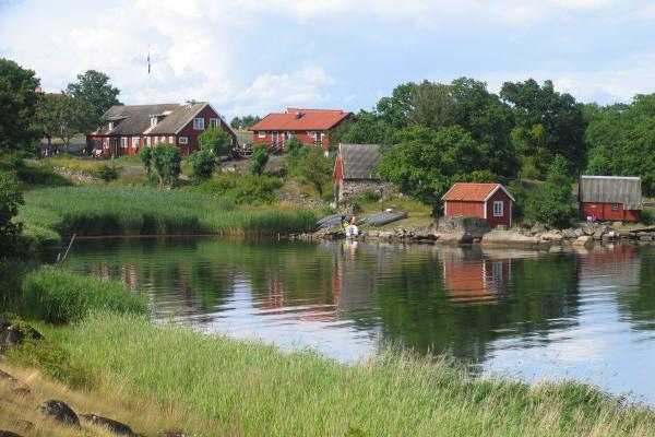 Some of the beautiful wooden houses at Tjärö