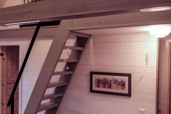 Stairs up to the attic