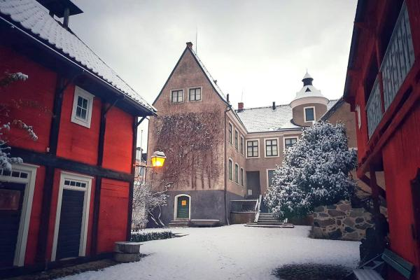 Snow at Karlshamns Museum