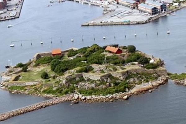 The fortress island from above