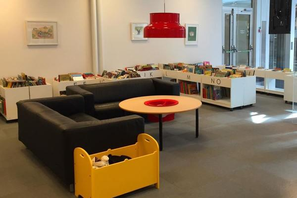 The library withchildren's department