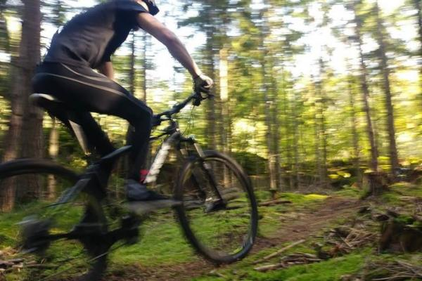 Cycling on the MTB track