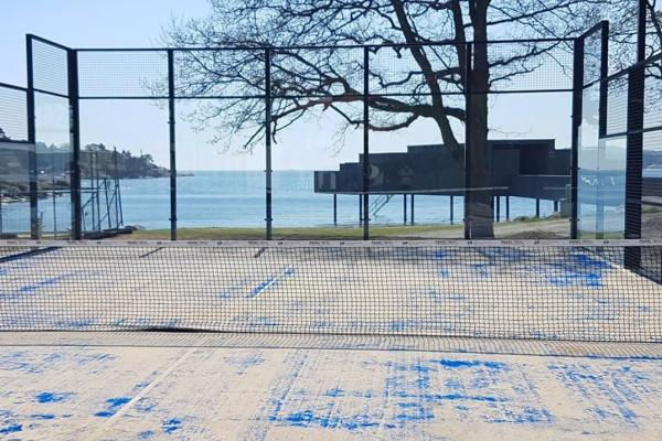 Padel court with sea view