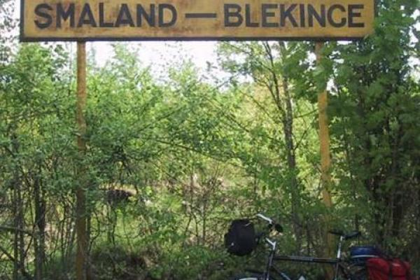 The border between Blekinge and Småland