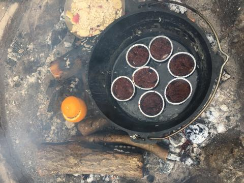 outdoor cooking chokladmuffins